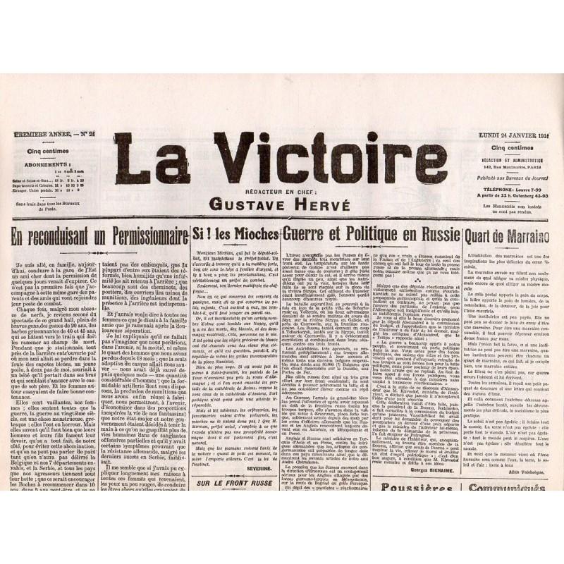 24 janvier 1916 - La Victoire (2 pages)