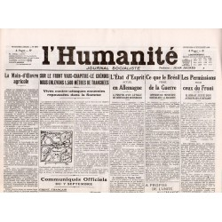 8 septembre 1916 - L'Humanité (4 pages)