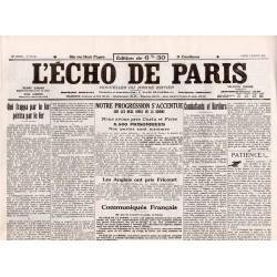 3 juillet 1916 - L'Echo de Paris (4 pages)