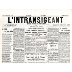 1 janvier 1915 - L'Intransigeant (2 pages)