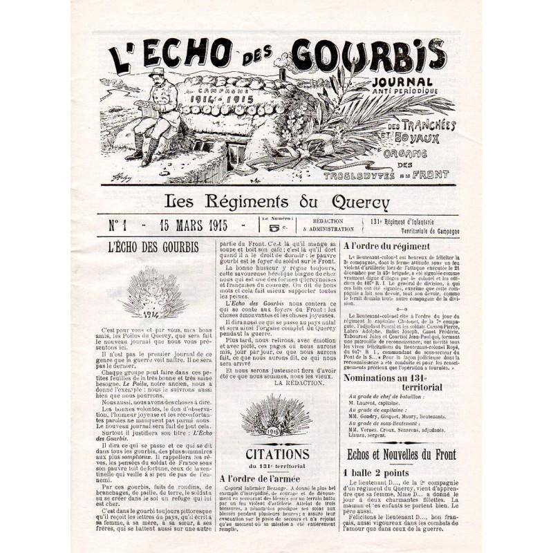 15 mars 1915 - L'Echo des Gourbis (4 pages)