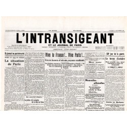 4 septembre 1914 - L'Intransigeant (2 pages)
