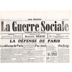 31 août 1914 - La Guerre Sociale (2 pages)