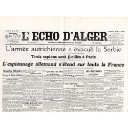 13 août 1914 - L'Echo d'Alger (2 pages)