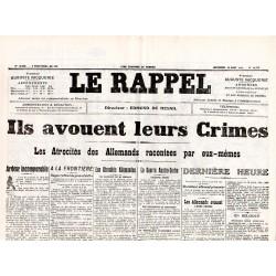 19 août 1914 - Le Rappel (2 pages)