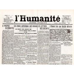 17 septembre 1914 - L'Humanité (2 pages)