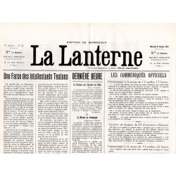 14 octobre 1914 - La Lanterne (2 pages)