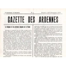 27 décembre 1914 - La Gazette des Ardennes (4 pages)