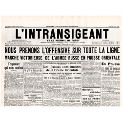 25 août 1914 - L'Intransigeant (2 pages)