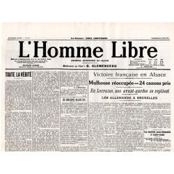 21 août 1914 - L'Homme Libre (2 pages)