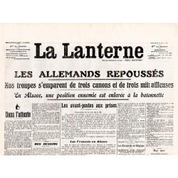 12 août 1914 - La Lanterne (2 pages)