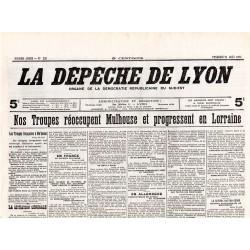 24 août 1914 - La Dépêche de Lyon (2 pages)
