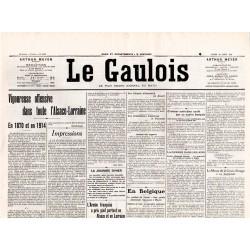 18 août 1914 - Le Gaulois (2 pages)