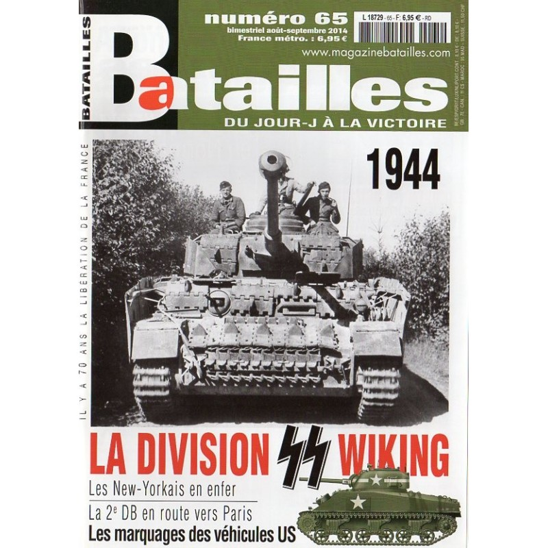 Batailles n° 65 - 1944, la Division SS Wiking