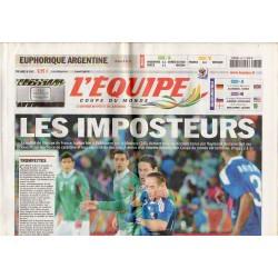 18 juin 2010 - n° 20431 - L'Equipe (Complet) - Les Imposteurs