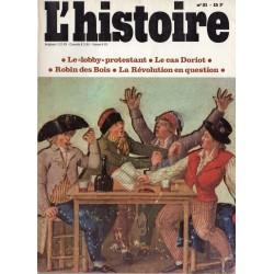 """L'Histoire n° 21- Le """"Lobby"""" protestant ; le cas Doriot ; Robin des Bois & La révolution en question"""