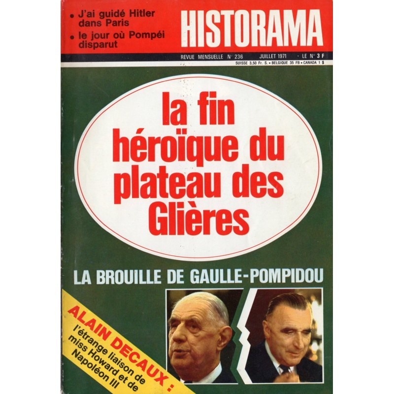 Historama n° 236 - La fin héroïque du plateau des Glières