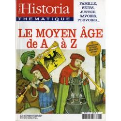 Historia Thématique n° 79 - Le Moyen Age de A à Z