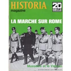 Historia Magazine 20e siècle n° 136 - La Marche sur Rome - Mussolini et le Vatican