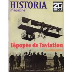 Historia Magazine 20e siècle n° 103 - L'épopée de l'aviation - Les suffragettes