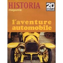 Historia Magazine 20e siècle n° 98 - L'aventure automobile