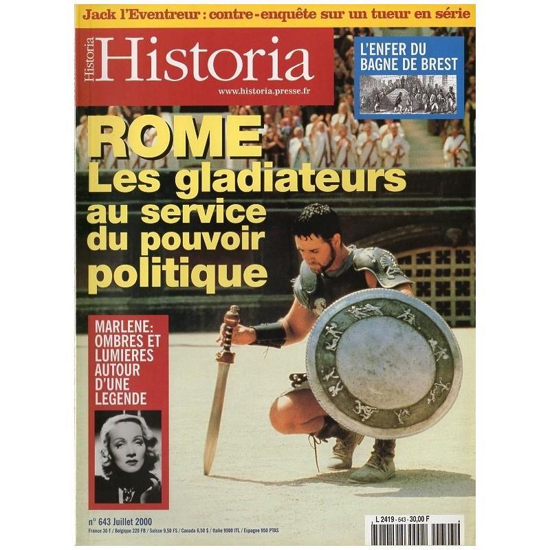 Historia n° 643 - ROME : Les Gladiateurs au service du pouvoir politique