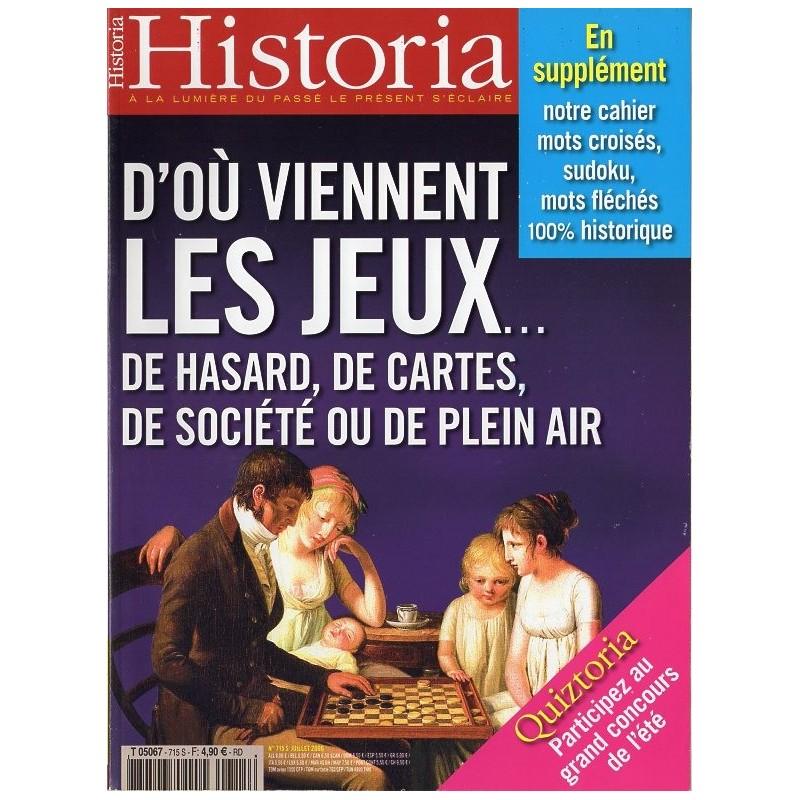 Historia n° 715 S - D'où viennent les jeux ...