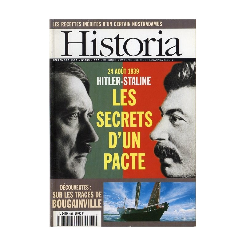 Historia n° 633 - 24 août 1939 Hitler-Staline, les secrets d'un pacte