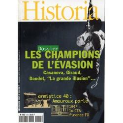 Historia n° 612 - Les champions de l'évasion, Casanova, Giraud, Daudet ...