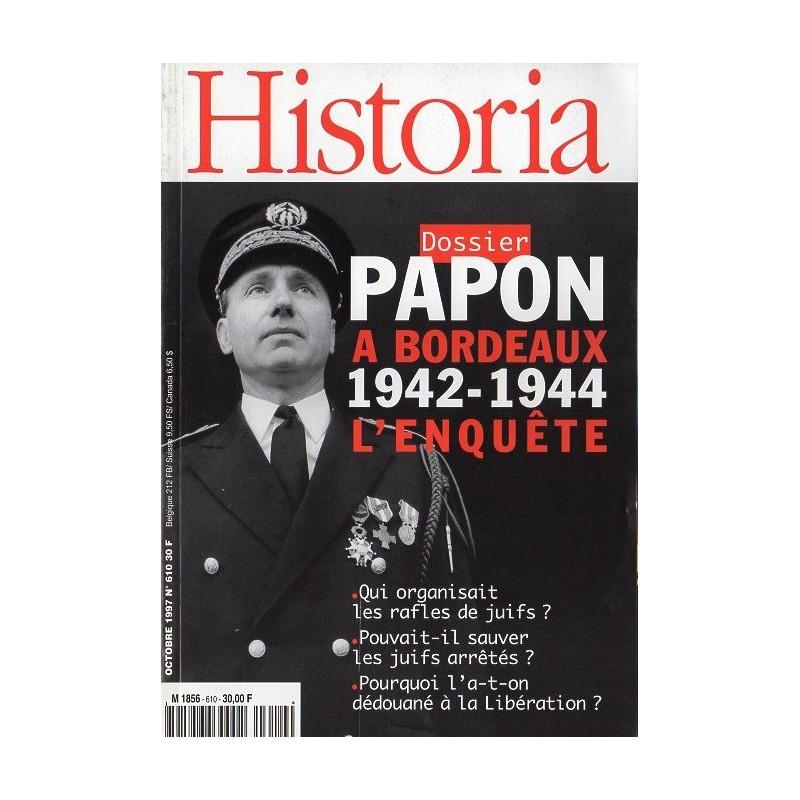 Historia n° 610 - Papon à Bordeaux 1942-1944 - L'enquête