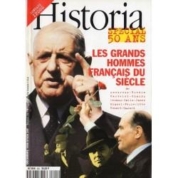 Historia n° 600 - Spécial 50 ans, Les Grands Hommes Français du siècle