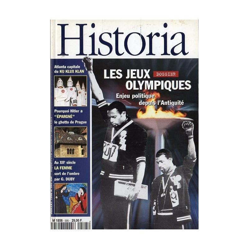 Historia n° 595 - Les Jeux Olympiques, enjeu politique depuis l'antiquité