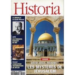 Historia n° 591 - Les Mystères de Jérusalem : David, Jésus, Mahomet