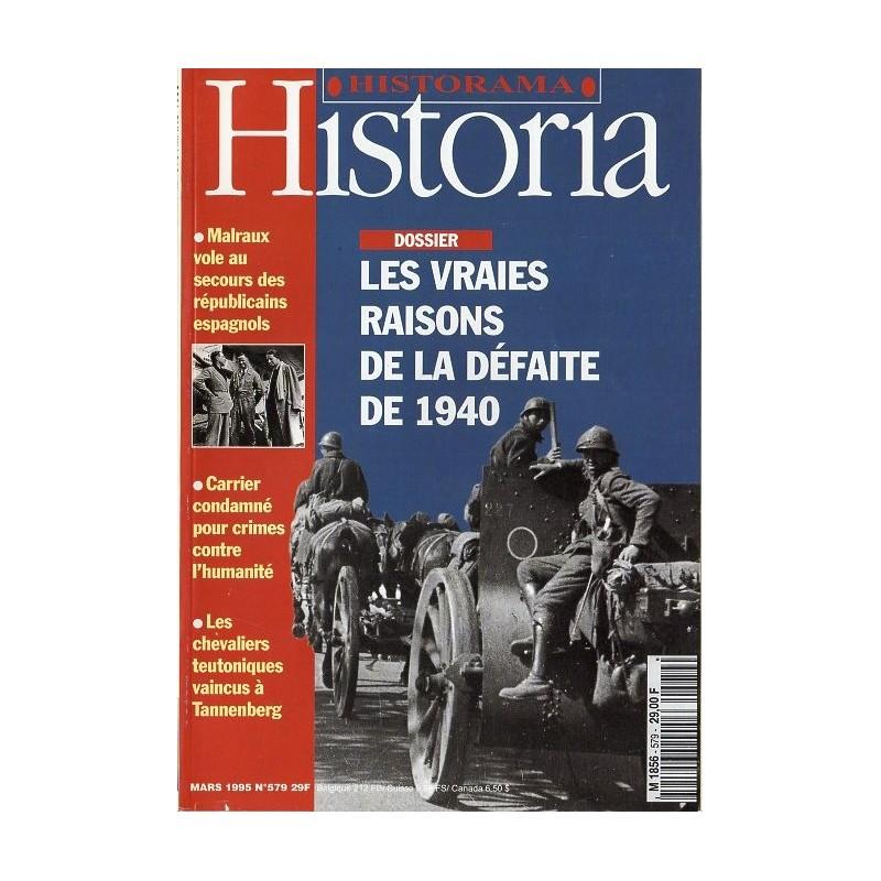 Historia n° 579 - Les vraies raisons de la défaite de 1940