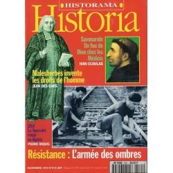 Historia n° 575 - Résistance : l'armée des ombres