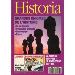 Historia n° 560 - Grands énigmes de l'Histoire : Ile de Pâques, Pyramides d'Égypte, Stonehenge, Nazca