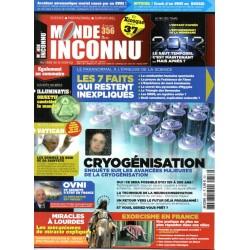 Monde Inconnu n° 356 - Sept faits qui restent inexpliqués & Enquête sur la Cryogénisation