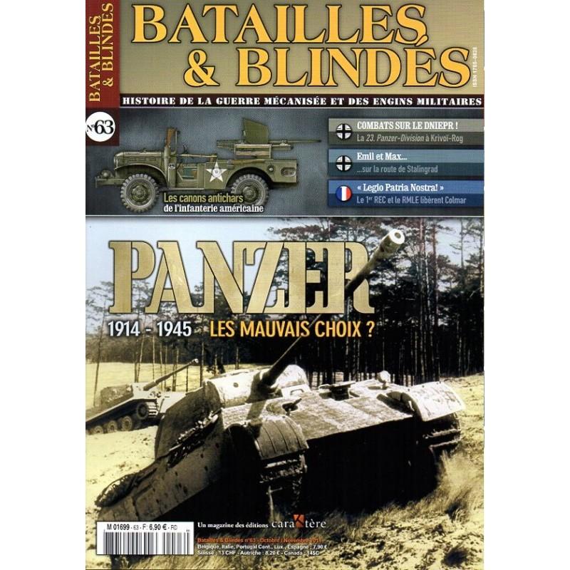 Batailles & Blindés n° 63 - Panzer 1914-1945 Les mauvais choix ?