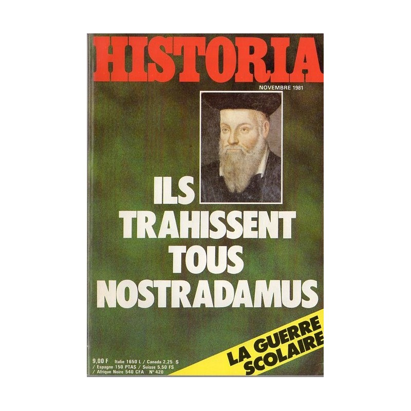 Historia n° 420 - Ils trahissent tous Nostradamus