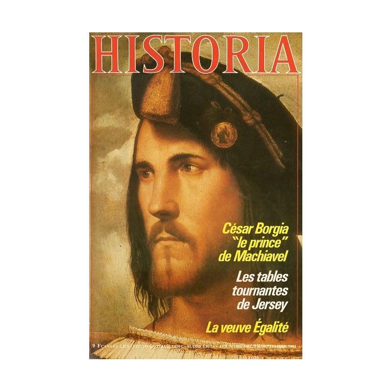 """Historia n° 418 - César Borgia """"le prince"""" de Machiavel"""