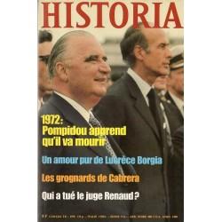Historia n° 401 - 1972, Pompidou apprend qu'il va mourir