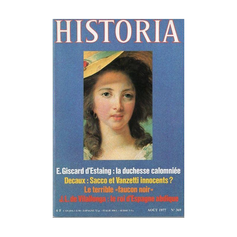 Historia n° 369 - La Duchesse de Polignac est morte de douleur