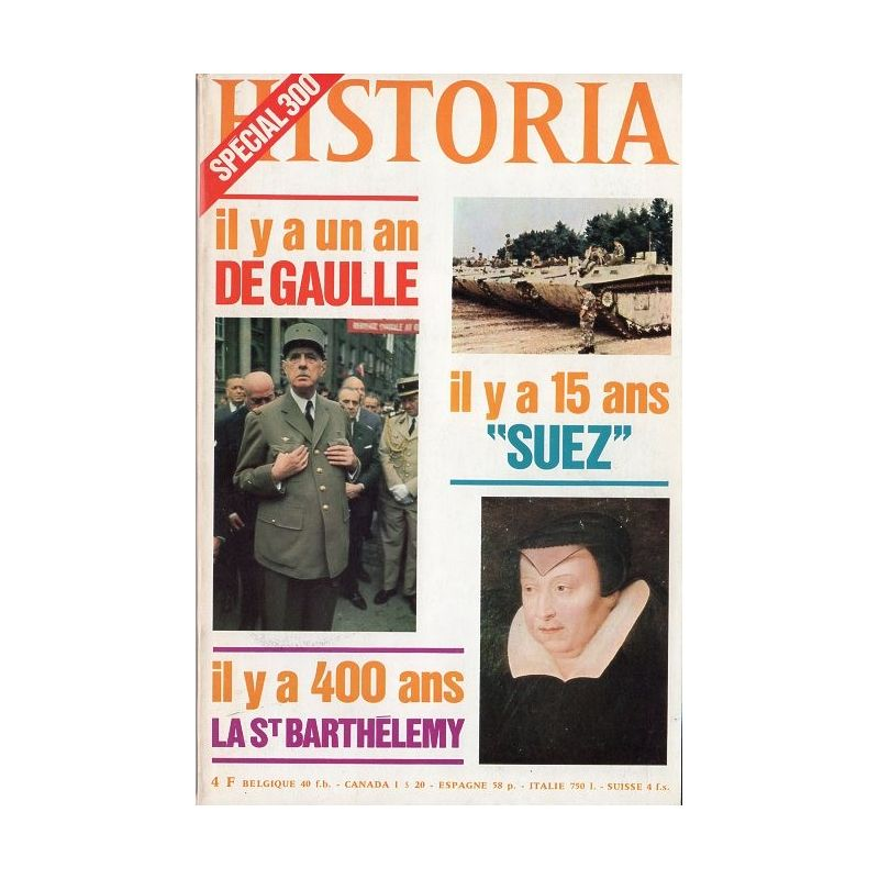 Historia n° 300 - le jour où de Gaulle est mort