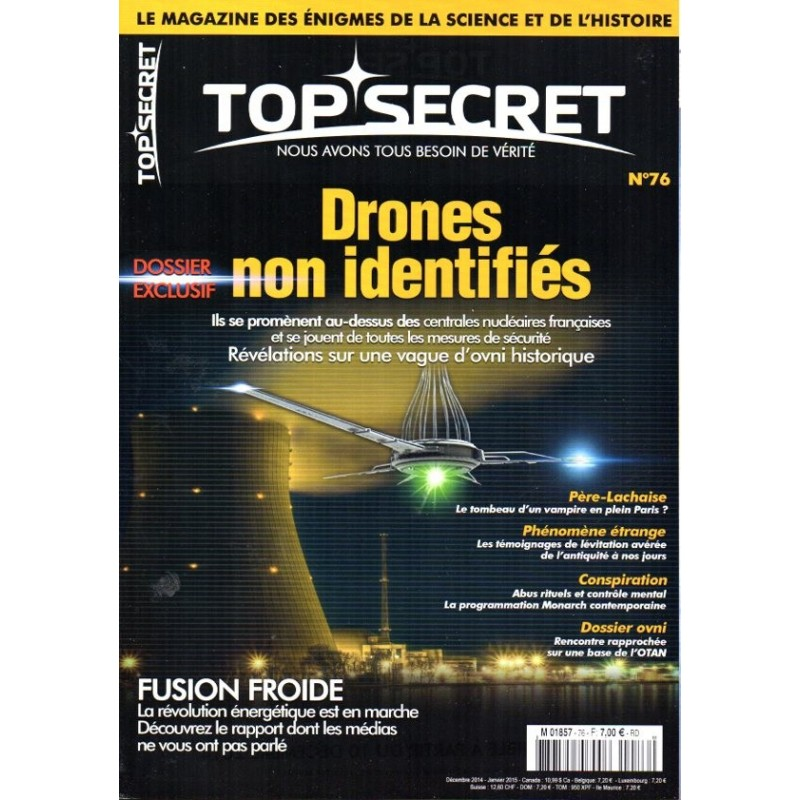 Top Secret n° 76 - Drones non identifiés