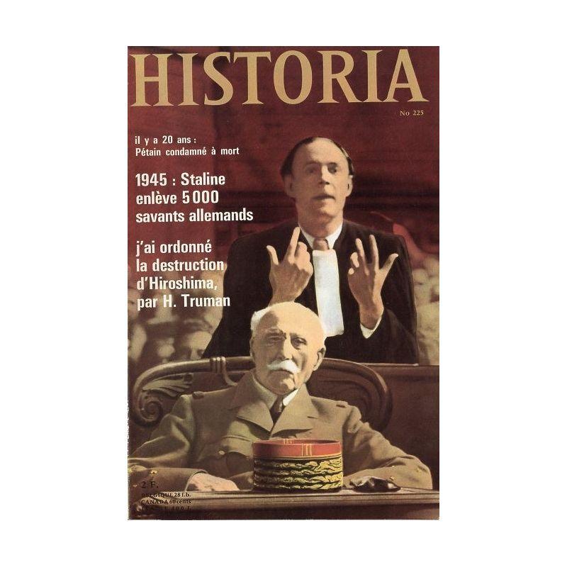 Historia n° 225 - Il y a 20 ans : Pétain condamné à mort