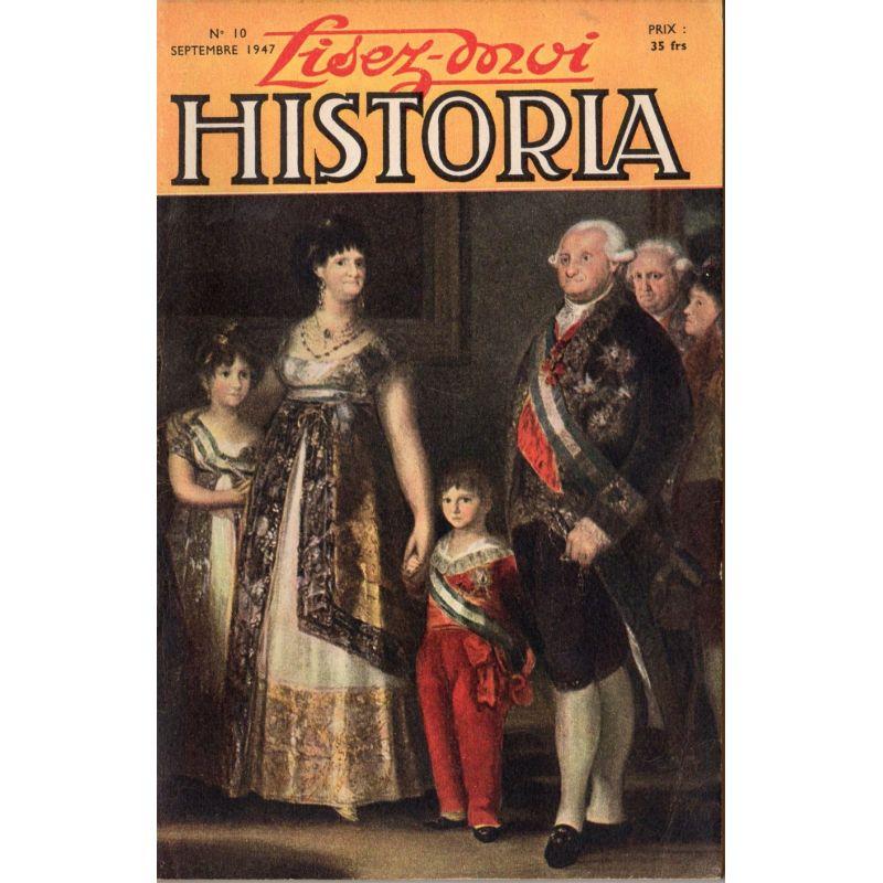 Lisez-moi Historia n° 10 - La chute d'un favori - Couverture : Charles IV et sa famille, tableau de Goya