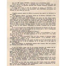 Historia n° 200 - Les dix journées de Charlotte Corday - A nos lecteurs