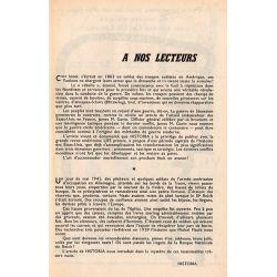 Historia n° 187 - Savary, exécuteur du guet-apens de Bayonne - à nos lecteurs