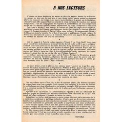 """Historia n° 183 - Échos de l'histoire : Les amours de """"Paganetta"""" - à nos lecteurs"""