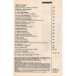 Historia n° 179 - Échos de l'histoire : Philippe de Commynes - Sommaire